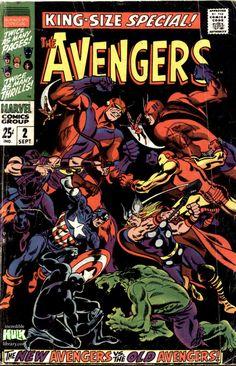 Avengers Annual #2 comic cover (from September 1968), art by John Buscema