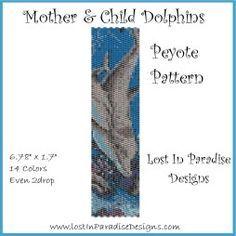 Mother & Child Dolphins Peyote Bracelet Pattern