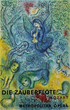 Die Zauberflöte / The Magic Flute (Wolfgang Amadeus Mozart) - Poster by Marc Chagall - 1967