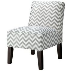 Target Mobile Site - Armless Upholstered Accent Slipper Chair - Grey Chevron