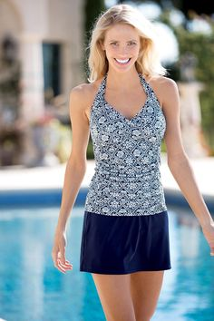 Printed Halter Skirtini by Inches Off®: Classic Women's Clothing from #ChadwicksofBoston $44.99