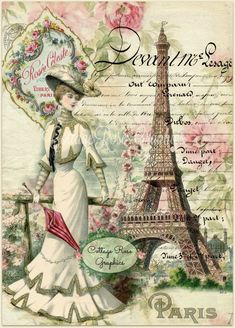 Paris within the Summer season digital picture obtain by CottageRoseGraphics Decoupage Vintage, Éphémères Vintage, Images Vintage, Vintage Paris, Decoupage Paper, Vintage Labels, Vintage Ephemera, Vintage Pictures, Vintage Postcards