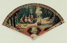 Vintage Fan: early 19th Century French - Momens musicals, vernis Martin (owned in 1910 by Leopold de Rothschild) by CharmaineZoe, via Flickr