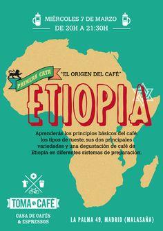 APÚNTATE A NUESTRA PRIMERA CATA DE CAFÉ!   Miércoles 7 de Marzo de 20h. a 21:30h.  En ella aprenderás los principios básicos del café, los tipos de tueste, sus dos principales variedades y una degustación de café de Etiopía en diferentes sistemas de preparación.  Incluye de regalo 50gr. de café Etiopía (cultivo ecológico) y una bolsa de tela con nuestros diseños.   Capacidad máxima 8 personas. Inscripción previo pago.  Precio: 10€