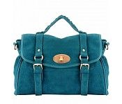 Mulberry Inspired Suede Bag Blauw
