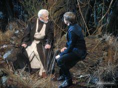 Star Wars: Episode VI - Return of the Jedi - Publicity still of Mark Hamill & Alec Guinness