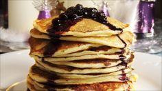Cottage cheese pannekaker med blåbærsirup