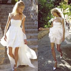 Short wedding dress with train / Emilio Pucci