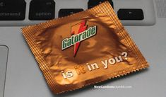 "hahaha. ""A cheeky project called New Condoms makes all corporate slogans sound like innuendos."""