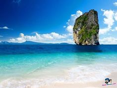 Sole mountain in beach