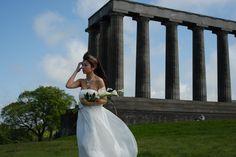 One of our Brides at Edinburgh .