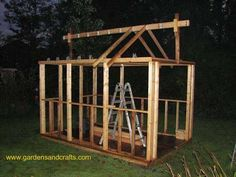 Step by step plans how to Greenhouse Project  Made from Old Windows and Doors