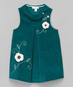 Verde floral sin mangas vestido de la muñeca - Niño, niño y niñas