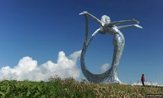 CUMBERNAULD......10m high and made out of galvanized mild steel, this sculpture by Scottish artist Andy Scott is both breathtaking and beautiful.