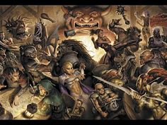 I wish I could post the full-sized version of this image.  This illustrations is just incredible.  I've seen no bar-room brawl more epic than this.