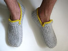 Men Crochet Loafers Crochet Slippers Boy's Slippers Men