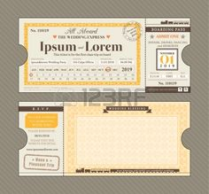 The fascinating Vector Train Ticket Wedding Invitation Design Template Stock Intended For Blank Train Ticket Template picture below, is part … Passport Wedding Invitations, Business Invitation, Wedding Invitation Card Template, Invitation Card Design, Wedding Invitation Design, Ticket Template, Ticket Invitation, Image Summer