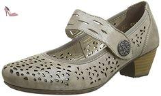 Rieker  41727-42, mocassins femme - Beige - Beige (Taupe), 41 EU - Chaussures rieker (*Partner-Link)