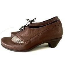 Naot Footwear Retro Brown / Auburn Tweed 40 9 Avant-Garde Collection Heel Lace #NaotFootwear #Pumps #Classics #naot