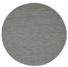 Kelim loom - Donkergrijs tapijt  Ø200