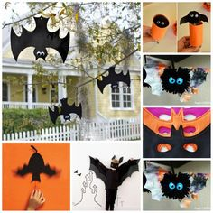 25 Cute Bat Crafts for Halloween