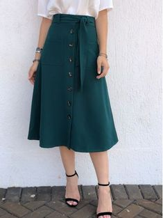 Swans Style is the top online fashion store for women. Shop sexy club dresses, jeans, shoes, bodysuits, skirts and more. Modest Dresses, Modest Outfits, Skirt Outfits, Modest Fashion, Dress Skirt, The Dress, Fashion Dresses, Cute Outfits, Mode Hijab