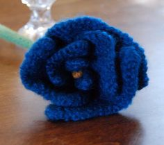 Egret Effects: Knitted Stem Rose