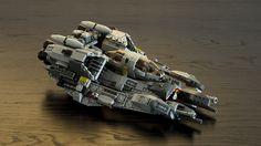 https://flic.kr/p/zB9gzj   LEGO Twin-B Starfighter (Base on 2 sets of 75050)