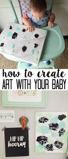 Create Art for your Decor with your Baby, DIY and Crafts, baby art project infants ideas for activities and crafts for mothers day. Kids Crafts, Baby Crafts To Make, Daycare Crafts, Mothers Day Crafts, Arts And Crafts Projects, Toddler Crafts, Crafts For Teens, Projects For Kids, Infant Art Projects