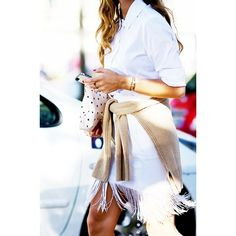 Street Style Trend Report Fringe Skirts ❤ liked on Polyvore featuring fringe skirts