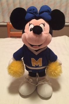 "Disney 16"" Plush Minnie Mouse Cheerleader Disney Resort"