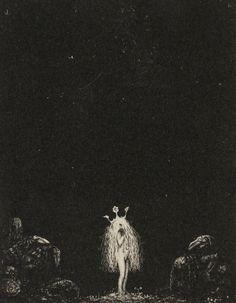 Lithograph, John Bauer, 1915
