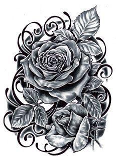 Rose desgin #BlackAndWhite