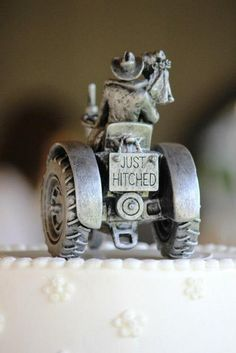 Bride and groom cake topper.