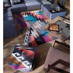 Theko 800 Funky Kelim Multi Vintage Wool Rug by Tom Tailor Vintage Wool, Wool Rug, Toms, Vibrant, Colours, Blanket, Rug Shop, Crochet, High Level