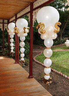 White Balloon Pillars