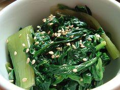 Bento filler: Spring greens namul (namuru)