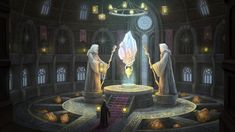 Necromancer, Fantasy Landscape, Art School, Witch, Folk, Wizards, Cities, Landscapes, Painting