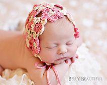 Ravelry: Heirloom Thread Flower Bonnet Crochet Pattern pattern by Melody Rogers