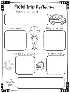 This is an image of Exceptional Field Trip Worksheet