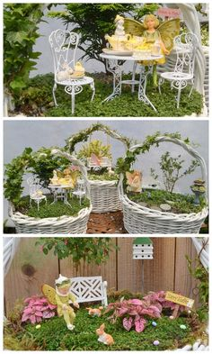 Easter Basket Fairy Garden - Garden Therapy