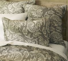 Bedding for our Master Bedroom- Alessandra Floral Reversible Duvet Cover & Sham - Gray | Pottery Barn