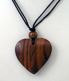 wooden heart pendant