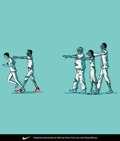 NIKE - Tee Shirt Design and Illustration 2010 - 2011 by Chow Hon Lam, via Behance