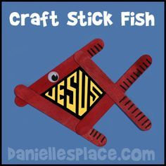 Craft Stick Fish - great craft for VBS from www.daniellesplace.com