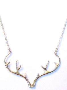 Sterling Silver antler necklace!