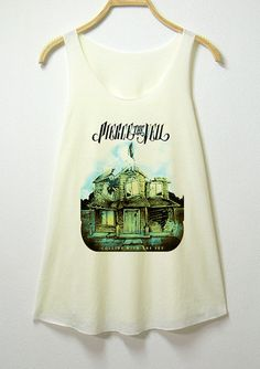 Hey, I found this really awesome Etsy listing at https://www.etsy.com/listing/176422654/pierce-the-veil-women-tank-top-off-white