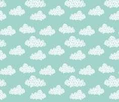 Geometric Cloud Pattern #andrealauren #surfacedesign #pattern