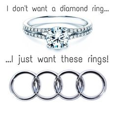 Audi ring Heart Beating Fast, My Ride, Audi, Engagement Rings, Diamond, Nice Cars, Beats, Image, Jewelry