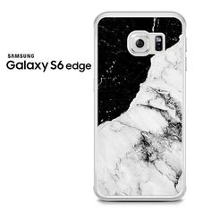 Black And White Contrast Marble Samsung Galaxy S6 Edge Case